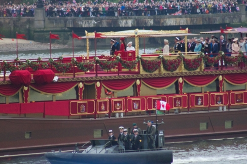 """Royal Family Aboard """"Spirit of Chartwell"""""""