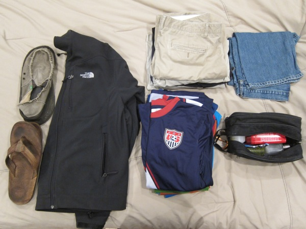 Clothes for two-week trip