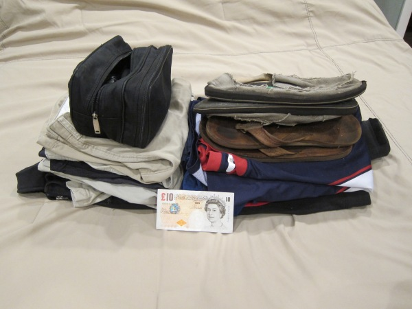 Wes' two-week packing