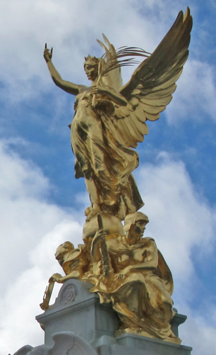 Close-up of Victory Statue